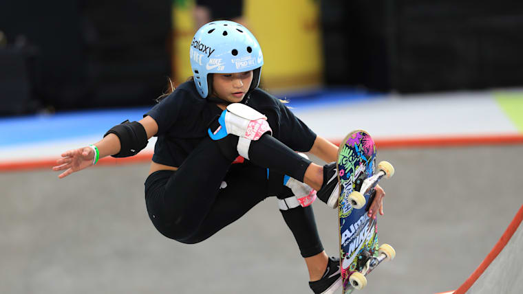 Sky Brown competing at the X Games Minneapolis in August 2019