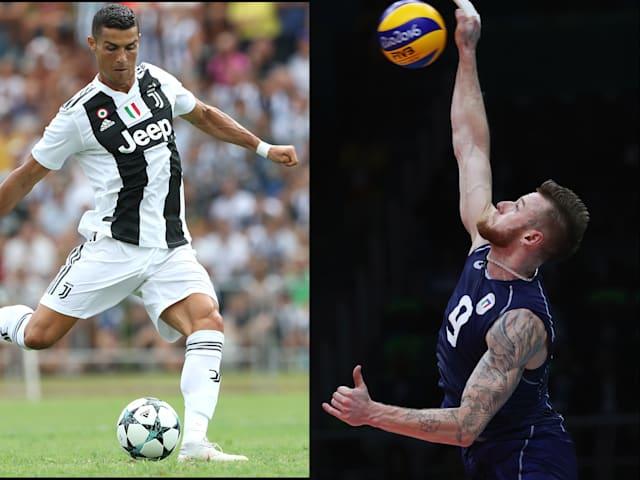 Cristiano Ronaldo, retado por el recordman del voleibol Zaytsev