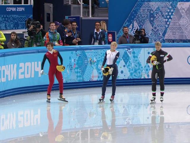 500m Damen Finale | Shorttrack Eisschnelllauf - Sotschi 2014 Wiederholung