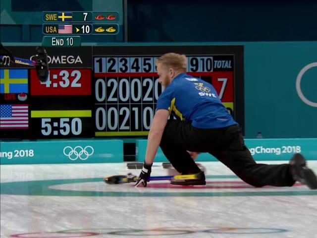 Edin makes a curling spin-o-rama in Sweden's last shot