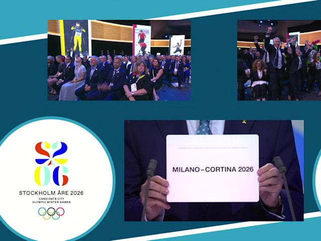 ميلانو-كورتينا دامبيدزو يفوزان باستضافة ألعاب 2026