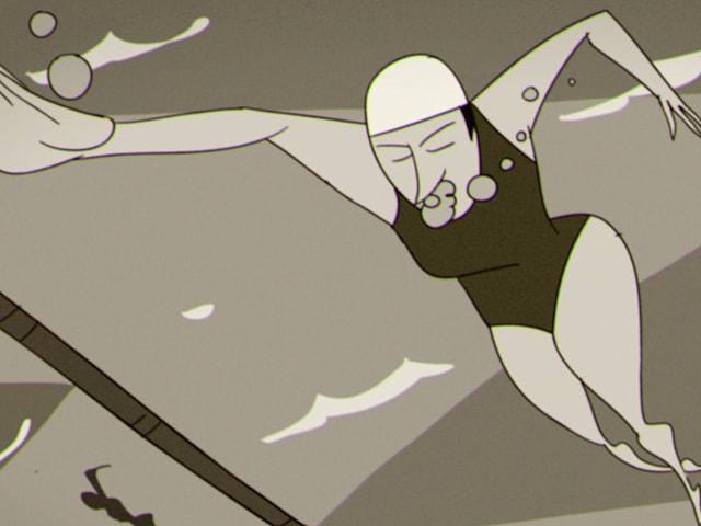 La championne olympique de natation qui a failli se noyer à Londres 1948