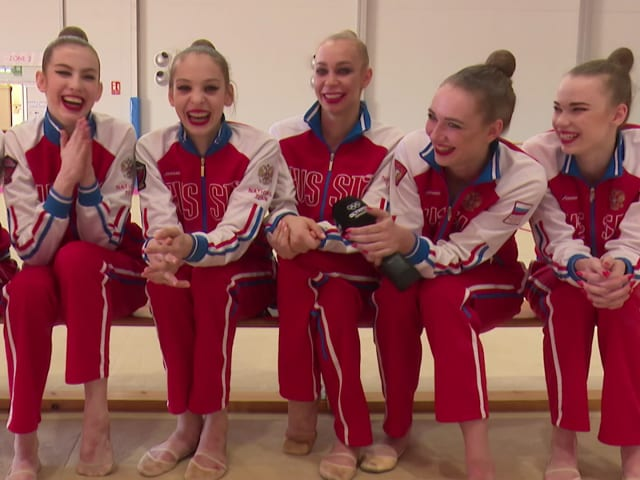 Russian Rhythmic Gymnasts inspired by Usain Bolt, Michael Phelps and more