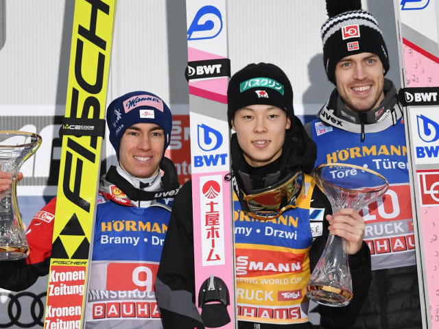 スキージャンプW杯、小林陵侑がジャンプ週間3連勝…同一シーズンの日本人男子W杯最多勝記録も更新