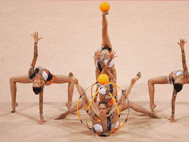The moves of rhythmic gymnastics