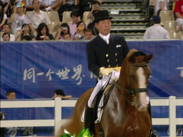 Hiroshi Hoketsu competes 44 years after Olympic debut | Beijing 2008 Replays