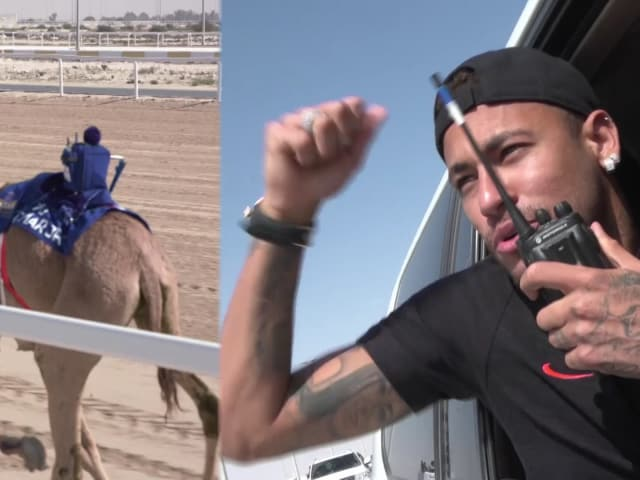 内马尔赢得卡塔尔骆驼赛