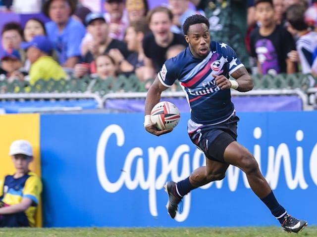 La star du rugby à 7 Isles défie Usain Bolt: