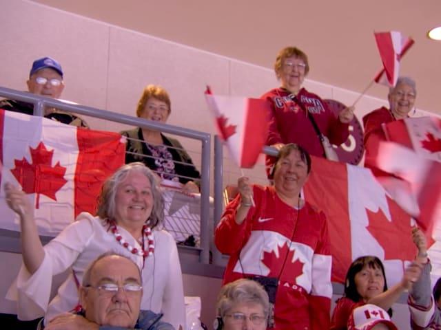 Les Canadiens fous de curling