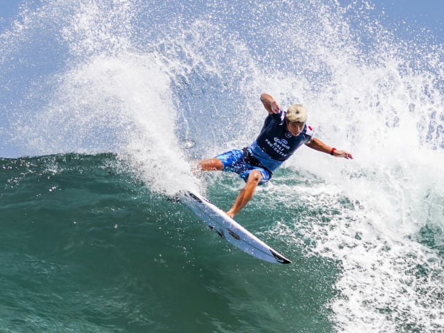 Watch Kanoa Igarashi as he surfs his way to victory in Bali