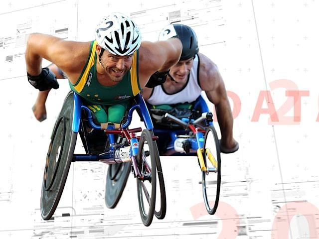 На этой коляске паралимпийцы могут достичь скорости 40 км/ч