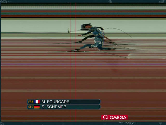 Biathletes Fourcade and Schempp in dramatic Mass Start's photo-finish