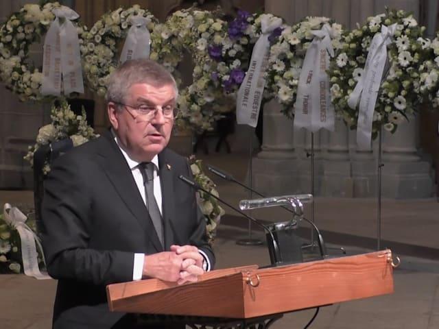 파트릭 바우만의 장례식 이끈 토마스 바흐
