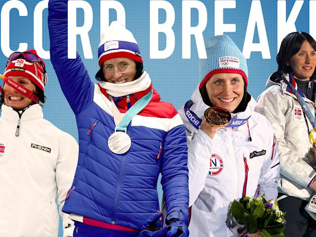 Snow queen Bjoergen enters record books