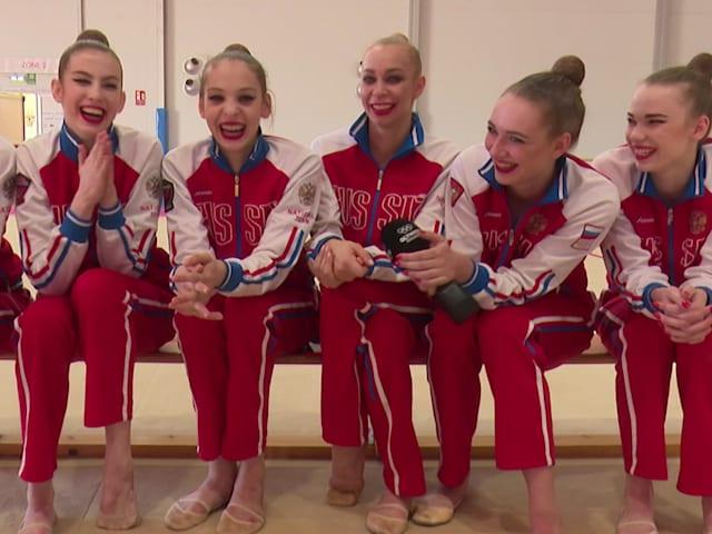 Российская команда по гимнастике вдохновлена Кабаевой, Болтом и Фелпсом