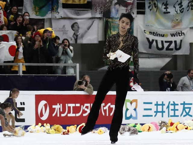 Ankle scare for Yuzuru Hanyu after Moscow win