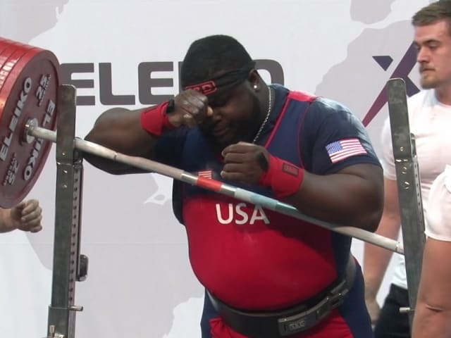 Uepa wins World Classic +120kg title after Williams bombs out
