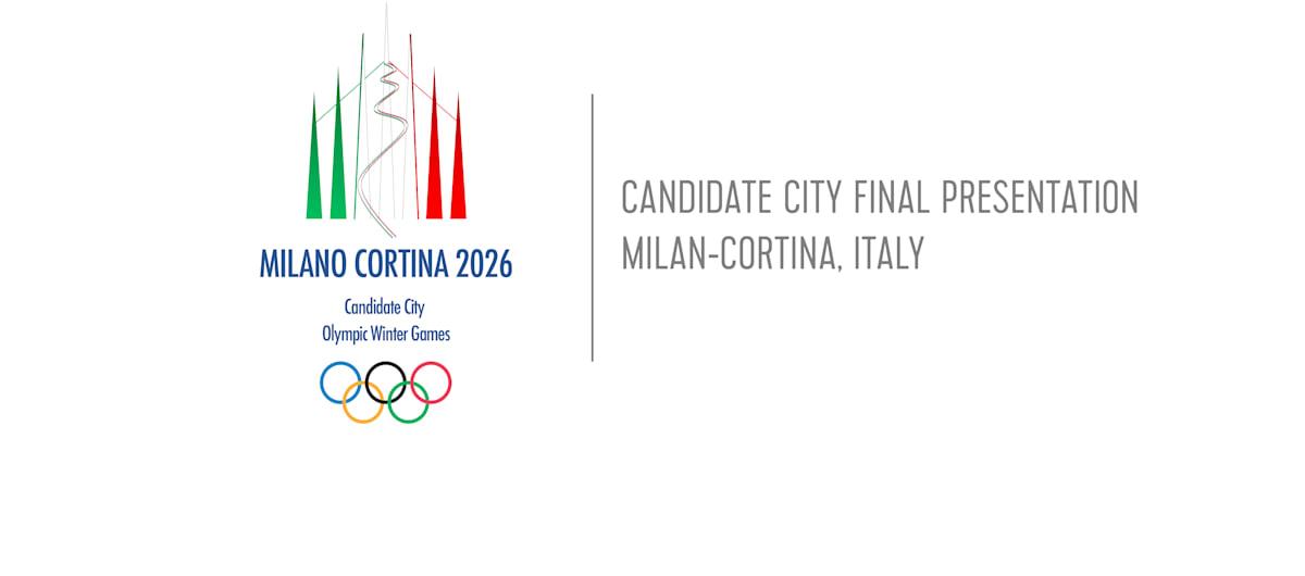 العرض النهائي للمدينتين المرشحتين: ميلانو-كورتينا