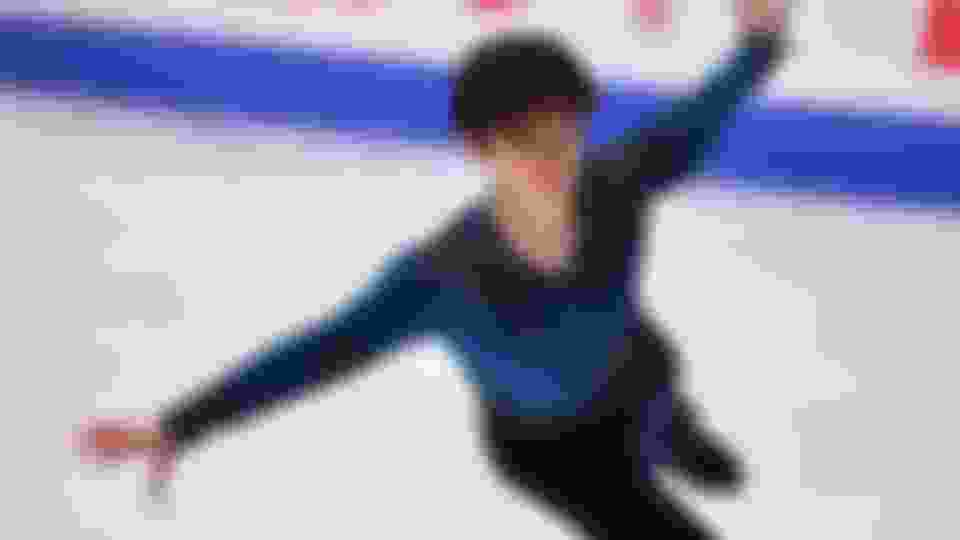 Shoma Uno competes during the men's free skate at the 2018-19 Japanese Figure Skating Championships.