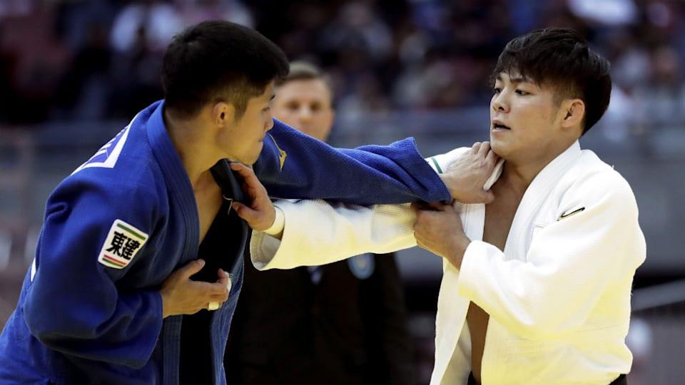 阿部一二三(右)は阿部詩の兄。2019年8月に開幕する世界柔道選手権で同大会の3連覇を狙う