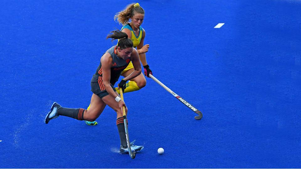 女子ではオランダ(手前)やオーストラリア(奥)が強豪。FIHプロリーグでも上位につける