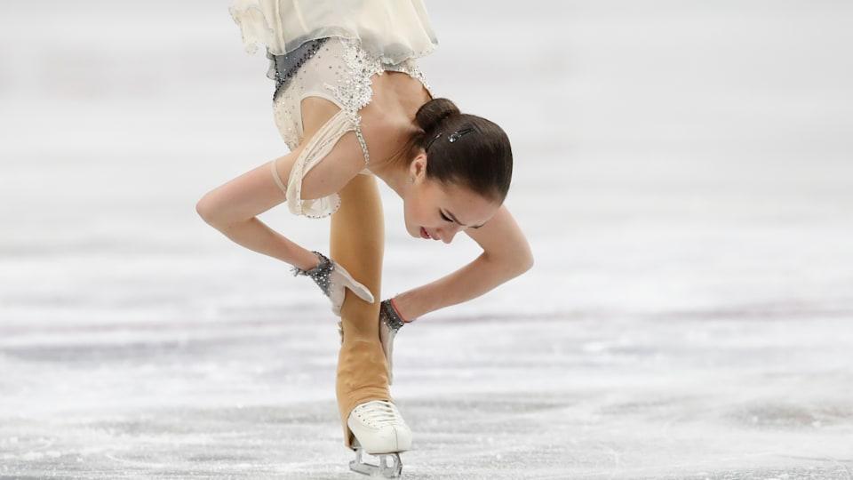 Russia's Alina Zagitova skates in the Ladies' Short Program at the 2019 ISU European Figure Skating Championships in Minsk. (REUTERS/Vasily Fedosenko)