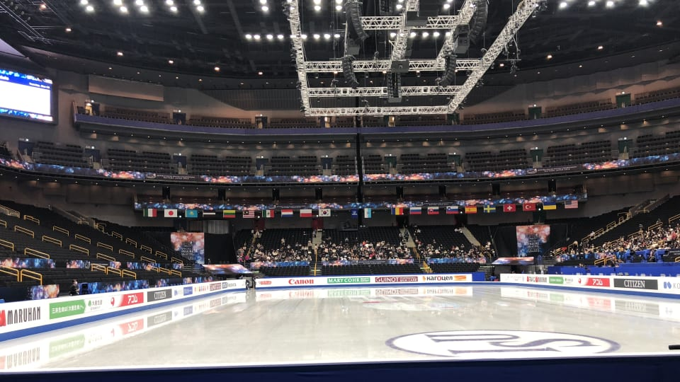 Saitama Super Arena readies for Hanyu on second day of practice from World Figure Skating Championships