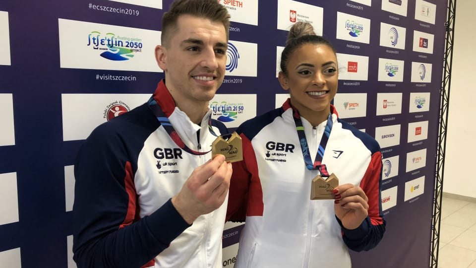 Max Whitlock and Elissa Downie