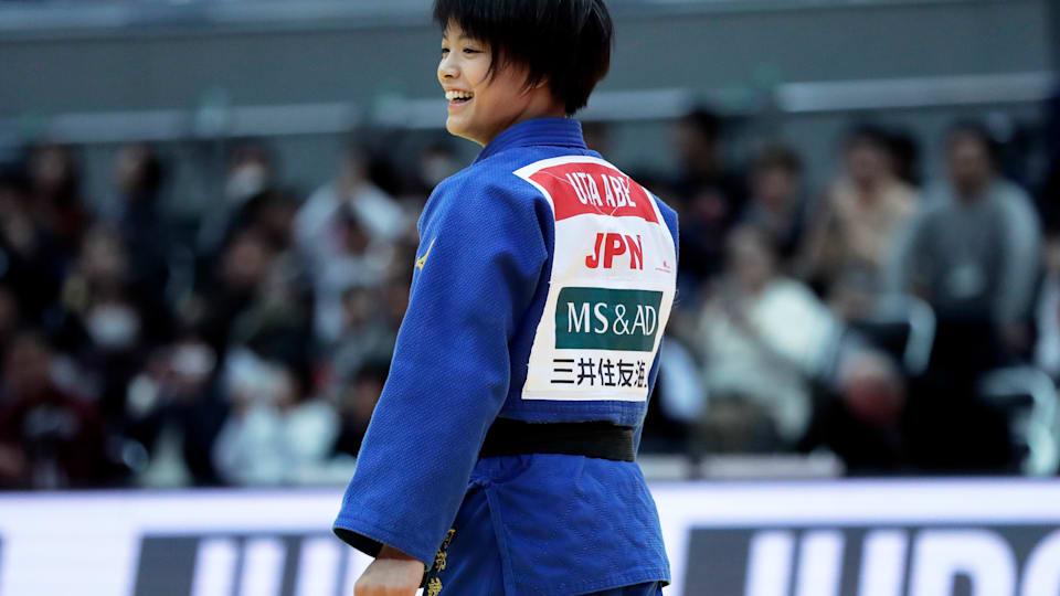 Uta Abe during the 2018 Osaka Grand Slam