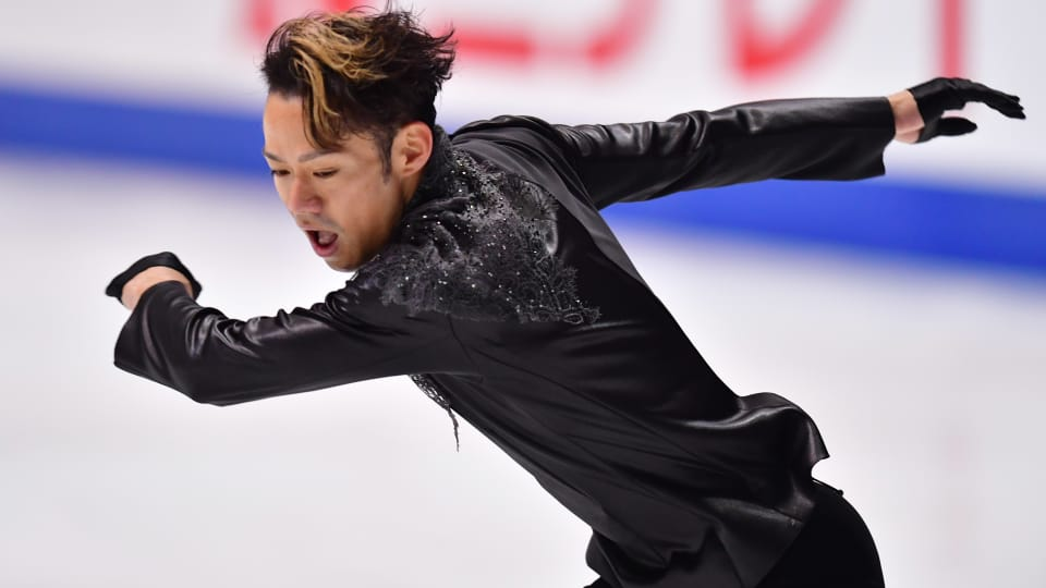 Daisuke Takahashi competes during the men's free skate at the 2018-19 Japanese Figure Skating Championships.