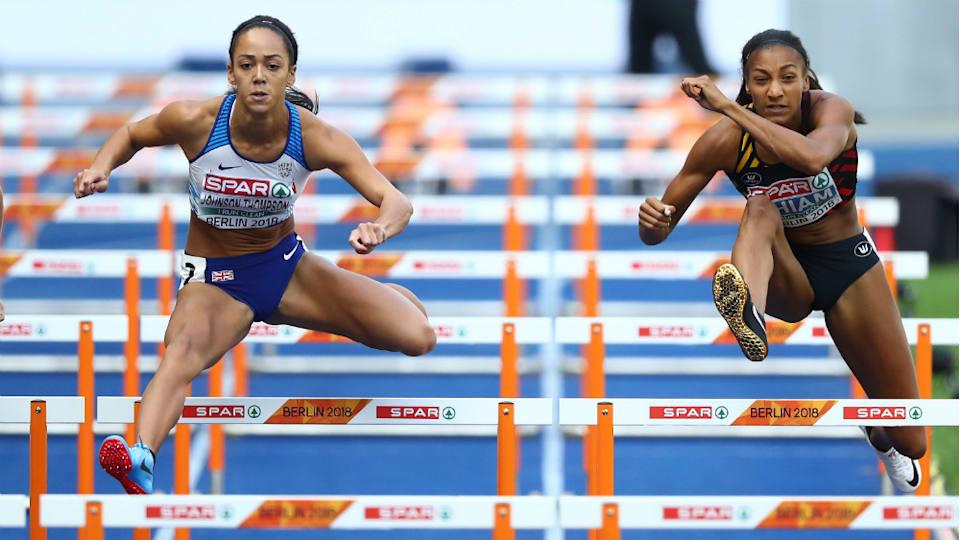 7種競技のワールドランキングではベルギーのナフィサトウ・ティアム(右)が首位に立つ。リオデジャネイロ五輪では金メダルを獲得している