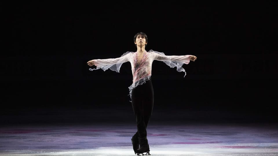 Yuzuru Hanyu performs during the Exhibition Gala at the 2019 World Figure Skating Championships