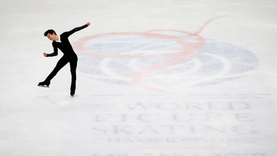 Nathan Chen won the men's singles at the 2018 World Figure Skating Championships in Milan. (REUTERS/Alessandro Garofalo)