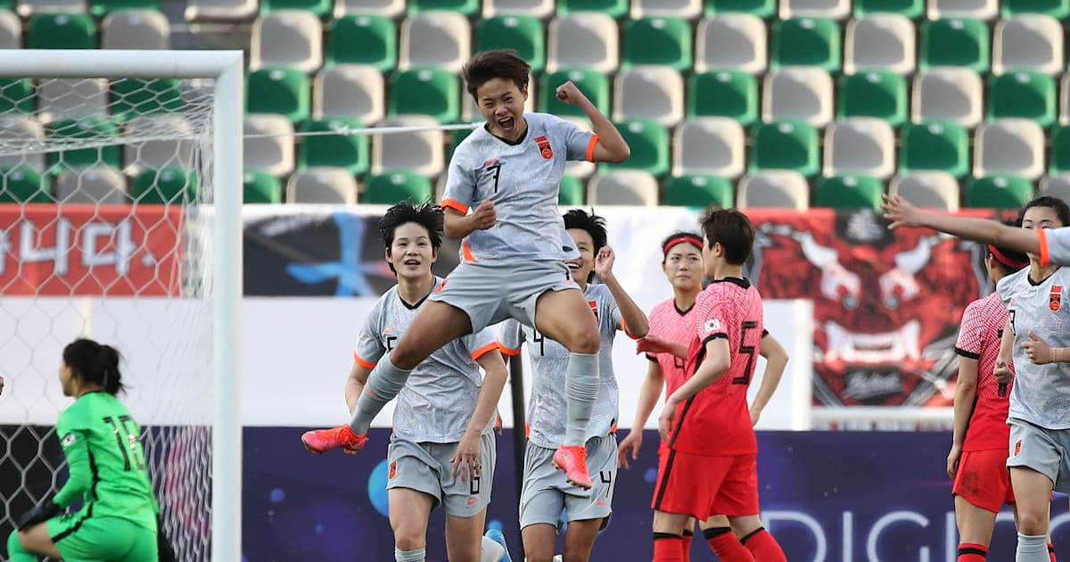 China leads South Korea after the first part of the Asian Women's Olympic Football Qualifying Competition: